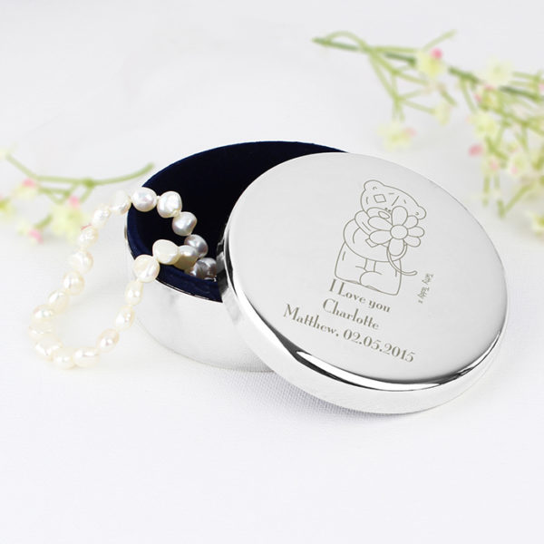 Personalised Me to You Flower Round Trinket Box