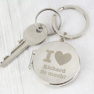 Personalised I heart Photo Keyring