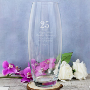 Personalised 25 Years Bullet Vase