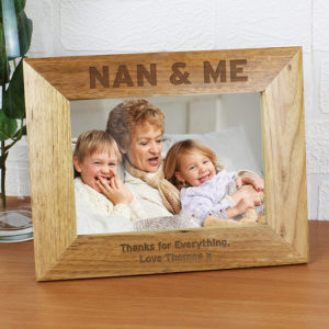Personalised Nan & Me 7x5 Wooden Photo Frame