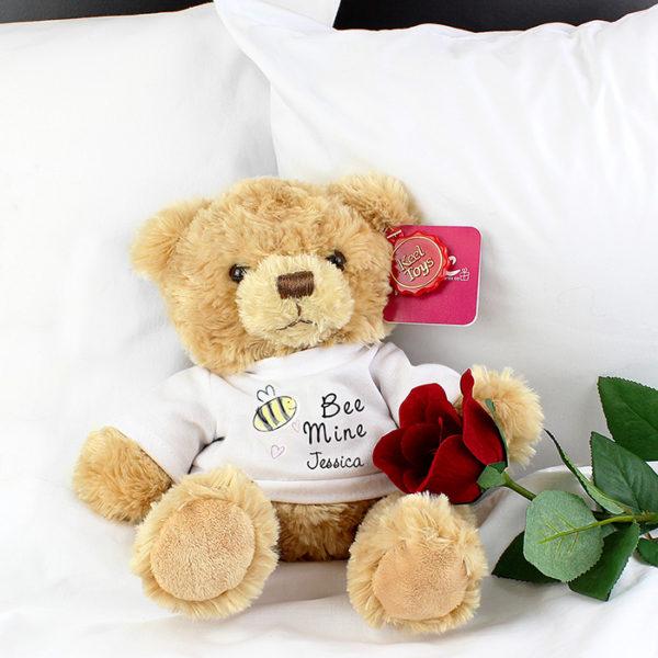 Personalised Bee Mine Message Bear