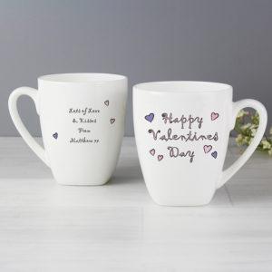 Personalised Happy Valentine's Day Latte Mug