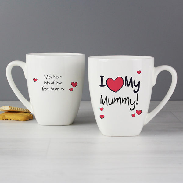 Personalised I Heart Latte Mug