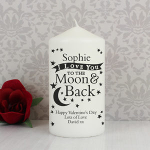 Personalised To the Moon and Back... Candle