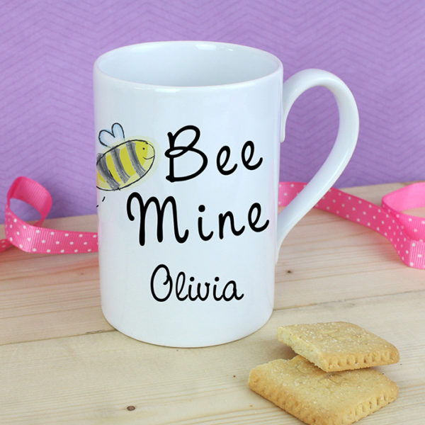 Personalised Bee Mine Slim Mug