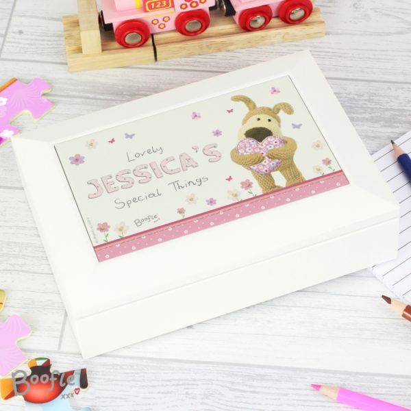 Personalised Boofle Flowers Jewellery Box